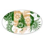 Norfolk Island Flag Sticker (Oval 10 pk)