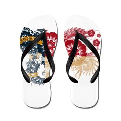 North Carolina Flag Flip Flops
