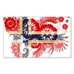 Norway Flag Sticker (Rectangle 10 pk)