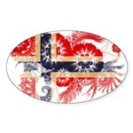 Norway Flag Sticker (Oval 10 pk)