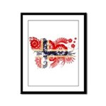 Norway Flag Framed Panel Print