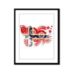 Norway Flag Framed Panel Print