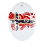 Norway Flag Ornament (Oval)