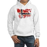 Norway Flag Hooded Sweatshirt