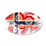 Norway Flag 38.5 x 24.5 Oval Wall Peel