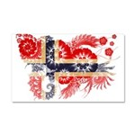 Norway Flag Car Magnet 20 x 12