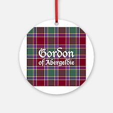 Tartan - Gordon of Abergeldie Ornament (Round)