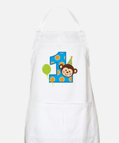 Boy Monkey 1st Birthday Apron