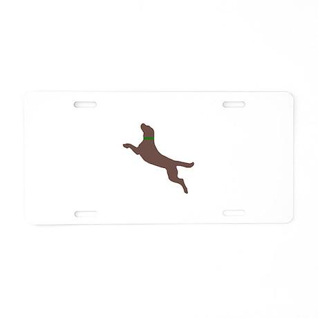Dock Jumping Dog Aluminum License Plate