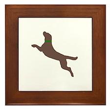 Dock Jumping Dog Framed Tile