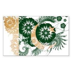 Pakistan Flag Sticker (Rectangle 50 pk)