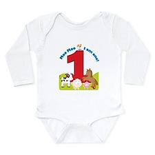Barnyard 1st Birthday Long Sleeve Infant Bodysuit