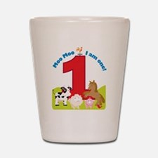 Barnyard 1st Birthday Shot Glass