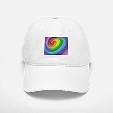 Rainbow Swirl Baseball Baseball Cap