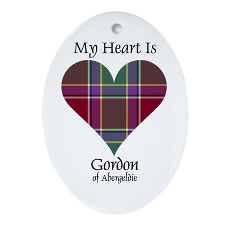 Heart - Gordon of Abergeldie Ornament (Oval)