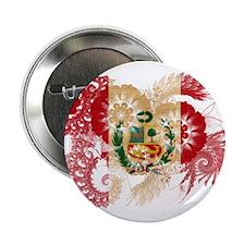 "Peru Flag 2.25"" Button"