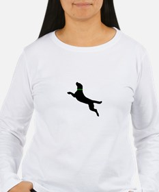 Black Dock Jumping Dog T-Shirt