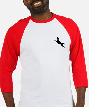 Black Dock Jumping Dog Baseball Jersey
