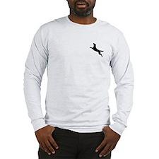 Black Dock Jumping Dog Long Sleeve T-Shirt