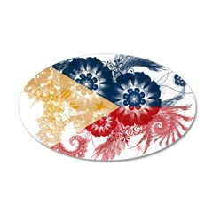 Philippines Flag 38.5 x 24.5 Oval Wall Peel