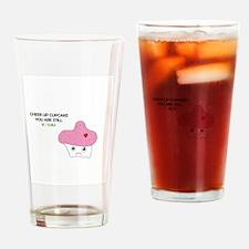Sad but Kawaii Cupcake Drinking Glass
