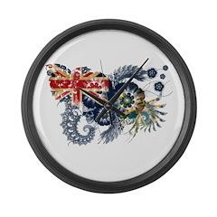 Pitcairn Islands Flag Large Wall Clock