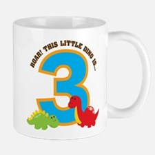 Dinosaur 3rd Birthday Mug