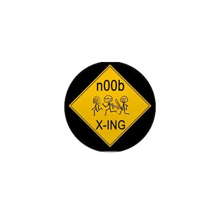 n00b Crossing Mini Button (10 pack)
