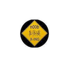 n00b Crossing Mini Button