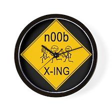 n00b Crossing Wall Clock