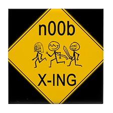 n00b Crossing Tile Coaster