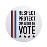 Respect and Protect our right Ornament (Round)