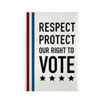 Respect and Protect our right Rectangle Magnet (10