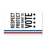 Respect and Protect our right Car Magnet 20 x 12