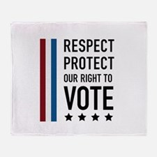 Respect and Protect our right Throw Blanket