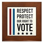 Respect and Protect our right Framed Tile