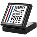 Respect and Protect our right Keepsake Box