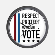 Respect and Protect our right Wall Clock