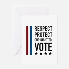 Respect and Protect our right Greeting Card