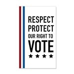 Respect and Protect our right 22x14 Wall Peel