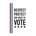 Respect and Protect our right Sticker (Rectangle 1