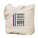 Respect and Protect our right Tote Bag