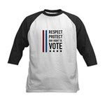 Respect and Protect our right Kids Baseball Jersey