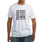 Respect and Protect our right Fitted T-Shirt
