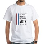 Respect and Protect our right White T-Shirt