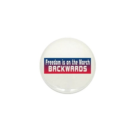 Freedom on the March Backward Mini Button (10 pack