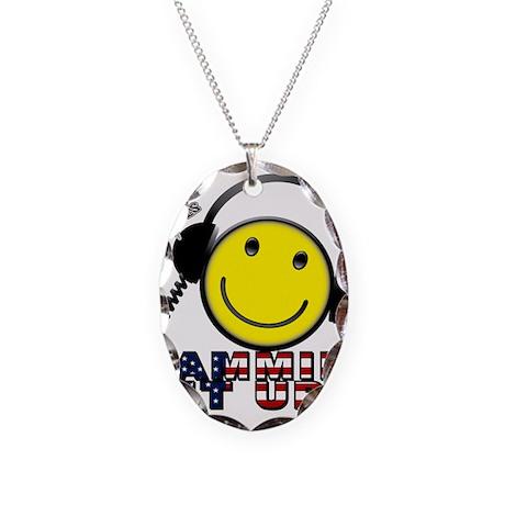 Guffable Designs Amatuer Radi Necklace Oval Charm