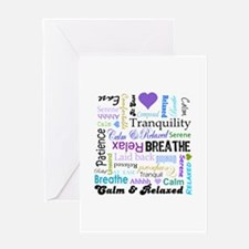 Relax Typography Greeting Card