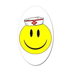 Registered Nurse Happy Face 22x14 Oval Wall Peel