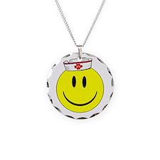 Registered Nurse Happy Face Necklace